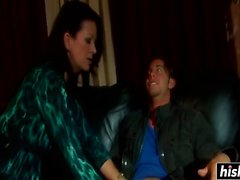 Raquel Devine in stockings gets drilled