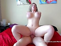Angelina Castro & Sara Jay fucking Huge White Cock!