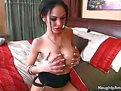 Busty Tattooed brunette Angelina Valentine gets slam fucked