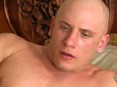 Kinky girl pleasures a bald dude