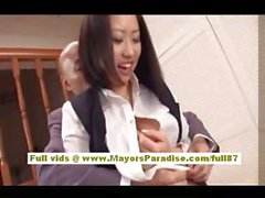 Anri Hosizaki Asian doll gets her boobs licked