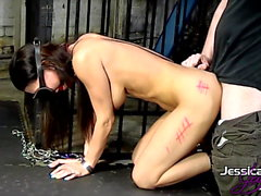 Porn queen Jessica Jaymes gets tied up & fucked, big boobs