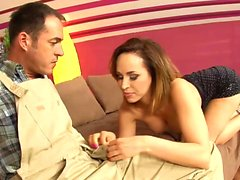 Brunette wife gets a nice creampie