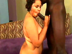Sexy Busty Black BBW Vicki Black in Her First Hardcore Scene