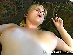Big Tits Blonde Fucked Hard On Her Ass And Go