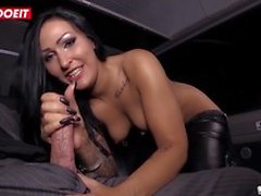 LETSDOEIT - German Kinky Brunette Paid For Fucking In Car