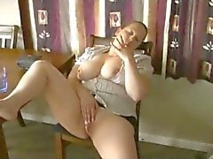 Horny Fat BBW Teen friend playing with her Pussy