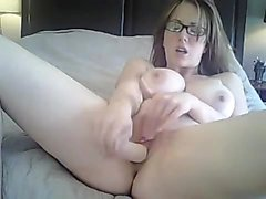 Sexy brunette fingering ass and showing boobs on cam