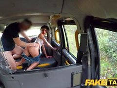 Fake Taxi Busty tattooed minx offering both tight holes